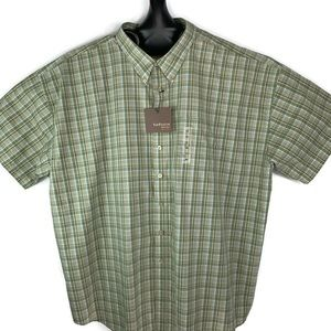 Van Heusen Big & Tall Shirt Size 4X Green Atlas